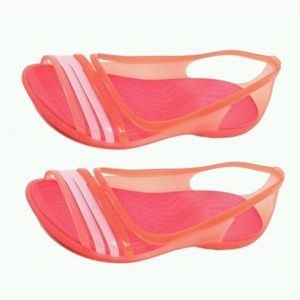 #11 Crocs Isabella Huracan Jelly Sandals Coral 10
